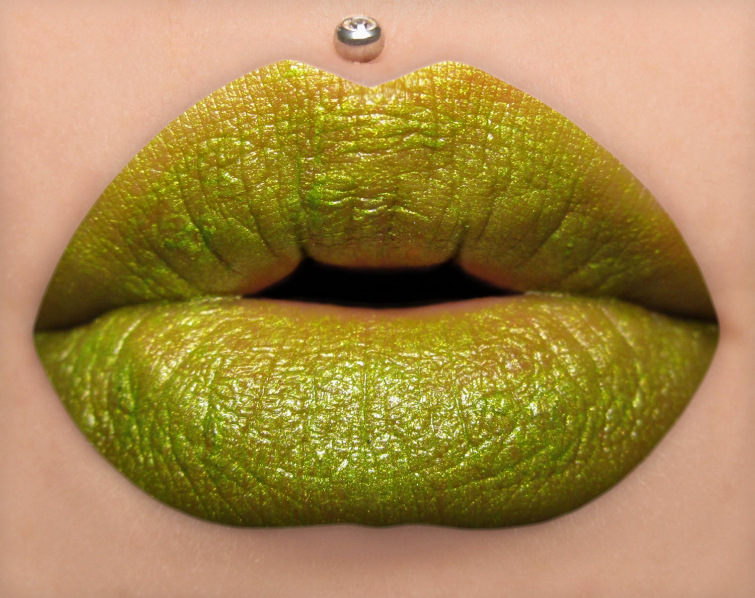 Creature Bright Yellow Green Lipstick by BeautyUndead on Etsy