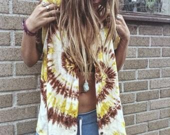 Sunflower tie-dye shirt