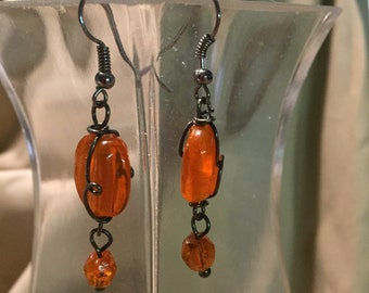 Orange Dangles Earrings