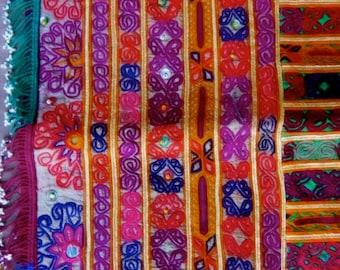 Large Tribal Zazi Katawaz Suzani Silk Embroidery Old, Rare and Collectable