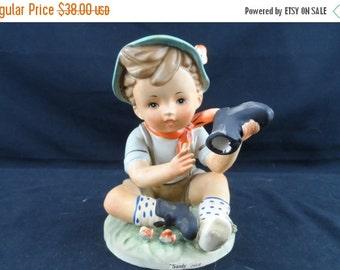 On Sale Erich Stauffer Sandy Shoes HP Figurine, Little boy blue shoe