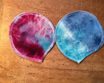 breast pads. no core, bamboo velour top, fleece back no PUL