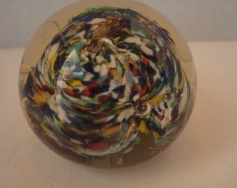 vintage multicolor paperweight