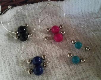 Hoop earrings with beads