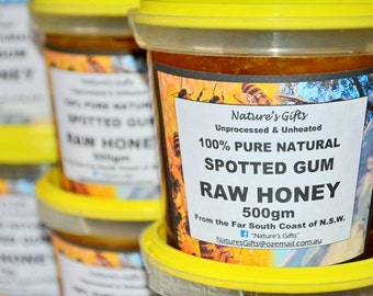 Raw Honey - 100% Natural - Unheated & Unprocessed - Spotted Gum Raw Honey From Bermagui NSW Australia
