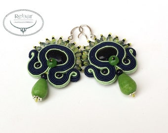 "Soutache earrings ""Jagna"""