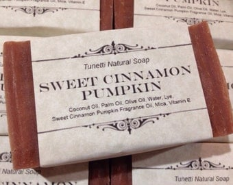 Natural Homemade Soap - Sweet Cinnamon Pumpkin