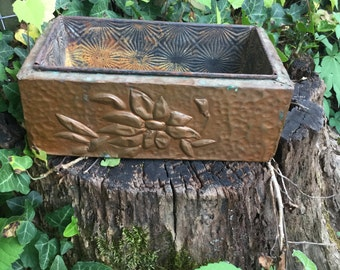 Hammered copper planter/ copper / planter/ vintage ovenex bakeware