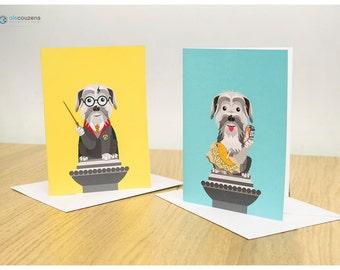 Greyfriars Bobby Greeting Cards, Edinburgh, Scottish Gift Cards