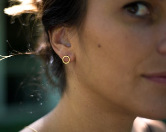 Small Circle Stud Earring