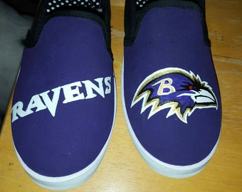 Baltimore Ravens hand painted shoes