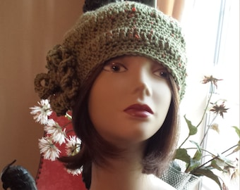 Winter hat with flower designed by petronella