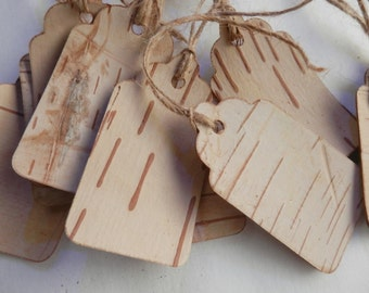 Rustic Birch Tree tags country gift tags mason jar tags