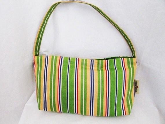 Shoulder Bag, Striped Preppy