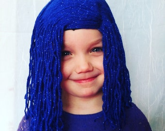 Girls wigs, Costume party, Halloween costume, Kids wigs, Adult wigs, costume wigs, costume hair, Cosplay wig, Cosplay costume, Blue wig