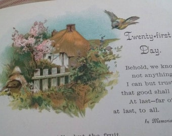 Vintage Violets Book/Tennyson Poetry Book/Romantic Poetry Book/Victorian Poetry Book/Edwardian Book/Antique Romantic Book