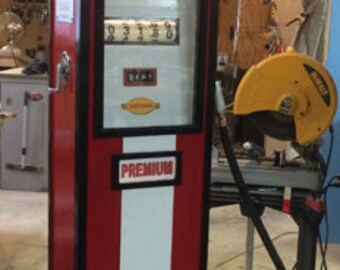 Hand crafted vintage Gas pump