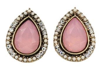 Simple drop crystal earrings