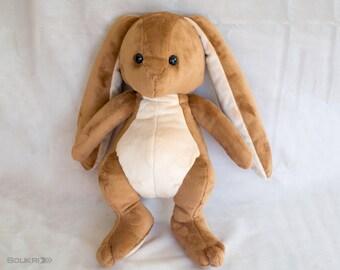 One of a kind Bunny plush // Cute Rabbit Plushie // Handmade Cotton tail Stuffed Animal Plush Toy