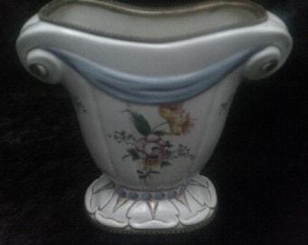 Cornucopia Vase French Porcelain Ormolou Details