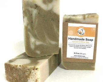 Handmade Soap - Juniper Pine Bar Soap, Colorado Harvested Soap