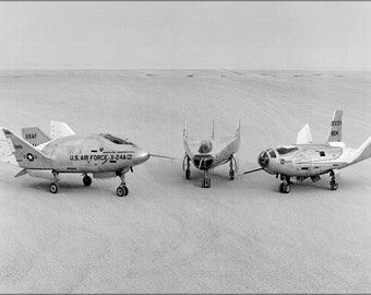 24x36 Poster . Three Lifting Bodies On Lakebed (X-24A, M2-F3, Hl-10) 1969