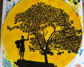 Jack Johnson Album Art Custom Painting on Vinyl Record - In Between Dreams