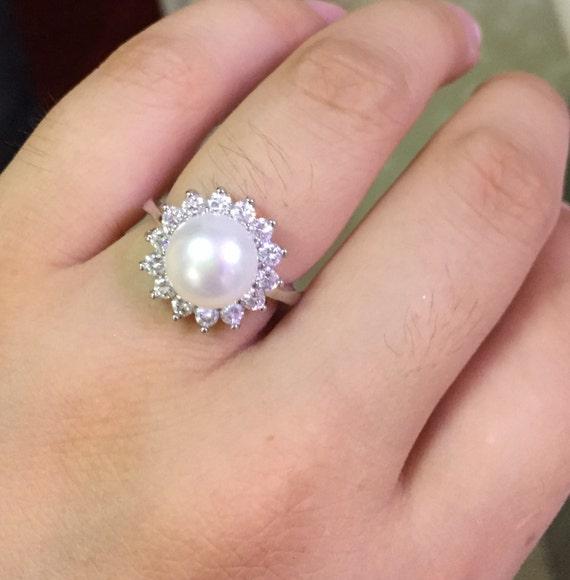 Pearl ringspearl promise ringsmom ringsmother ringreal