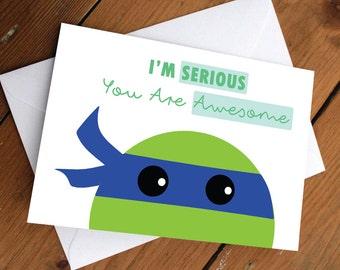 Blue ninja turtle card