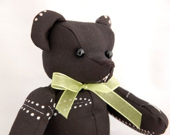 Japanese fabric Teddy Bear (Black)