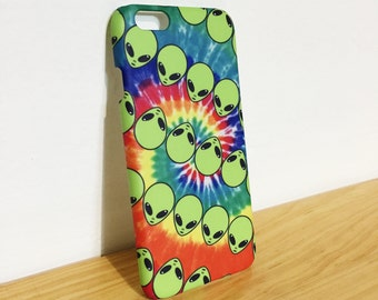 Alien - Tie Dye - Full printed case for iPhone - by HeartOnMyFingers - CMB-031