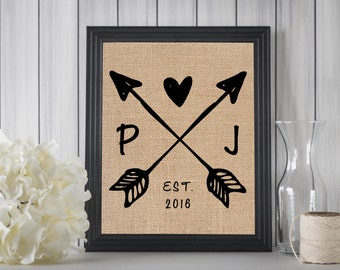 Boho Wedding Sign // Boho Wedding Decorations // Wedding Name Sign // Cotton Anniversary Gift