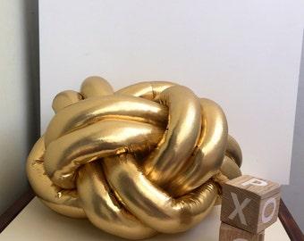 Golden knot pillow decor cushion sale decorative soft