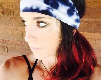 Lavender BLUE Tye Dye Fitness Headband ~ Workout Headband ~ Yoga Headband ~ Running Headband ~Hiking Headband