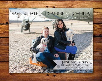 Custom Photo Save the Date - banners