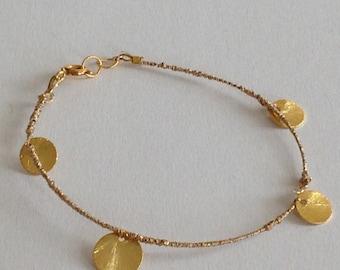 BRACELET GOLD SEQUINS