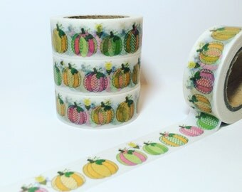 25% OFF Fall and Halloween, Beautiful Pumpkins and Gourds, Bumble Bee Washi Tape