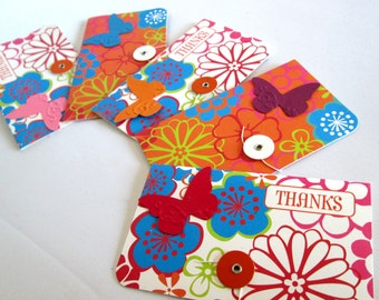 Greeting Cards Thank You Cards Thank You Greeting Cards Butterfly Cards Butterflies Handmade Cards Set of Cards All Occasion Cards