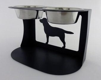 Labrador Dog Bowl Stand