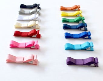 Bows for Hair | Clips for Hair | Tiny Bows | Small Hair Bows | Bows for Babies | Toddler Bow Clips | Hair Clip Set | Infant Bows | Bow Clips