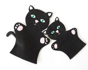 Cat puppets  - puppets for children, children toy, puppet theatre  -