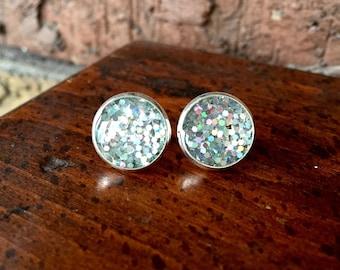 Silver Party Stud Earrings