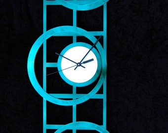 Mid Century Modern Stainless Steel Wall Clock