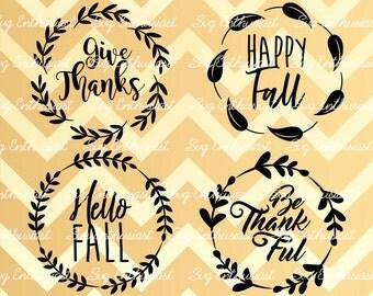Fall leaves Frames SVG, Fall sayings SVG, Happy Fall Svg, Autumn Svg, Fall Svg, Thanksgiving SVG, Eps, Cut Files, Clip Art, Print, Svg,