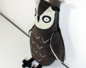 "Stuffed plush toy Brown Owl, eagle-owl, bird, named ""Fredrik"""