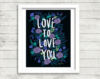 "16x20"" | Cool LOVE TO LOVE You Art Print"