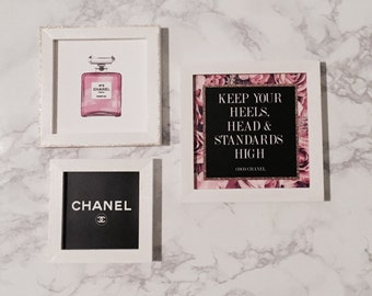 Coco Chanel 3-Piece - Office print and frame