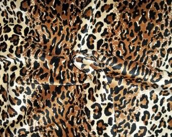 DESIGNER ETHNIC CHIC Simba Leopard Leopardo Cheetah Velvet Fabric 10 Yards Black Brown Cream
