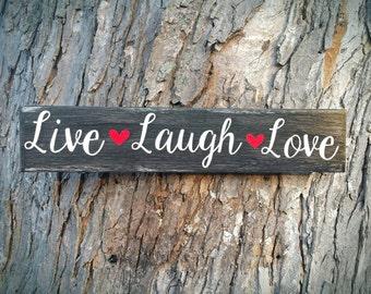 Live Laugh Love Wood Sign
