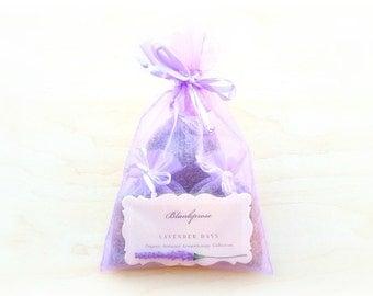 Lavender Days • Stress Less • Organic French & Bulgarian Lavender Scented Sachets • Aromatherapy • Botanical Bag + Drawer Freshener